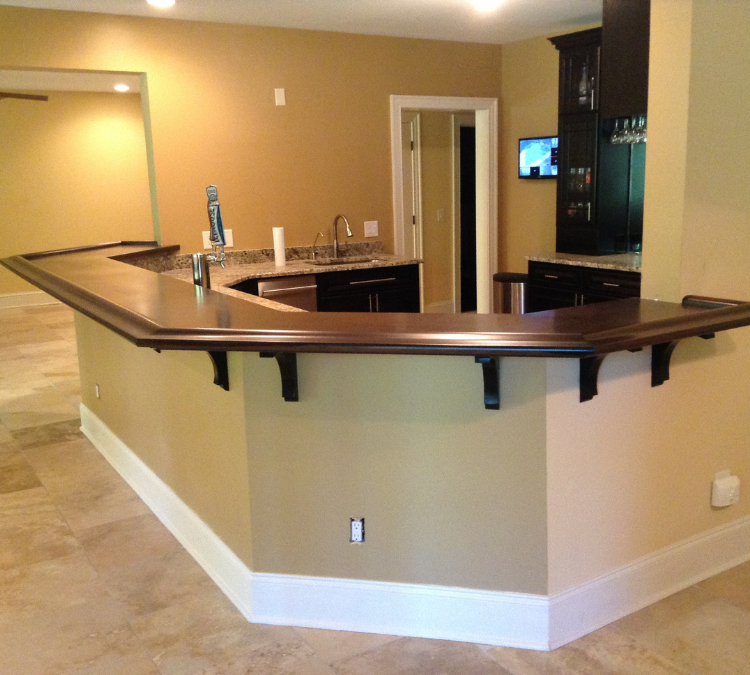 Bar display and storage cabinetry Raleigh Durham NC