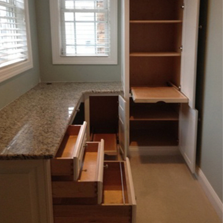 C loset converted into a home office, Raleigh NC