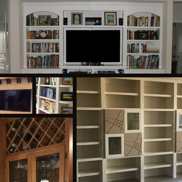 Television Unit integration of wainscot Raleigh Durham NC